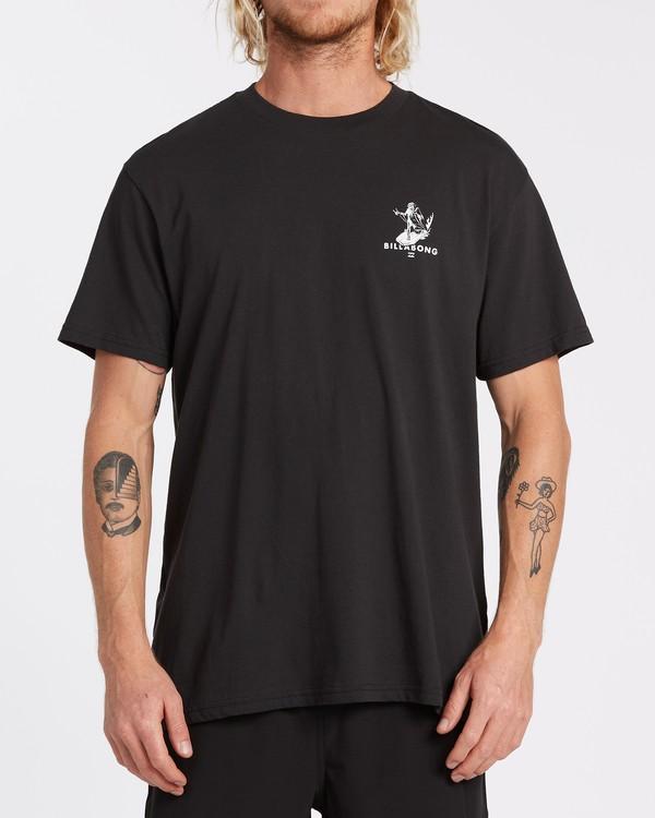 0 Olas Falsas Short Sleeve T-Shirt Black M4042BOF Billabong