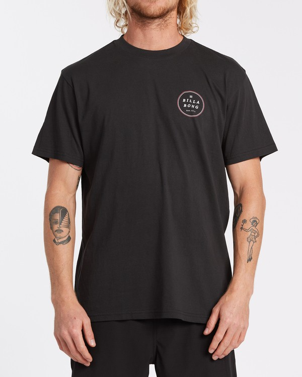 0 Rotor Short Sleeve T-Shirt Black M4042BRO Billabong