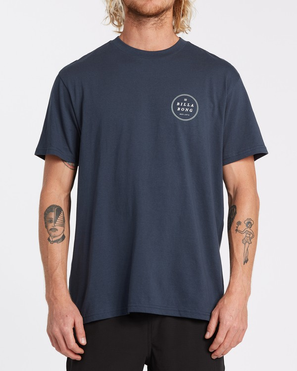 0 Rotor Short Sleeve T-Shirt Blue M4042BRO Billabong