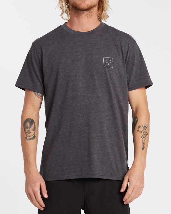 0 Stacked Short Sleeve T-Shirt Black M4042BST Billabong