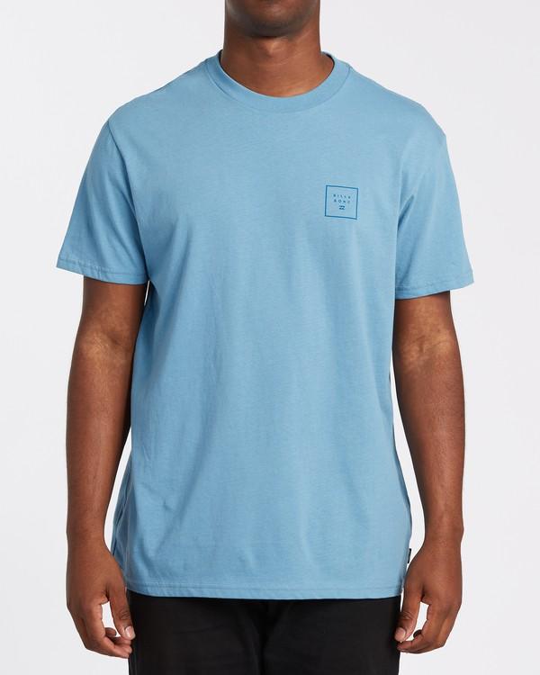 0 Stacked Short Sleeve T-Shirt Grey M4042BST Billabong