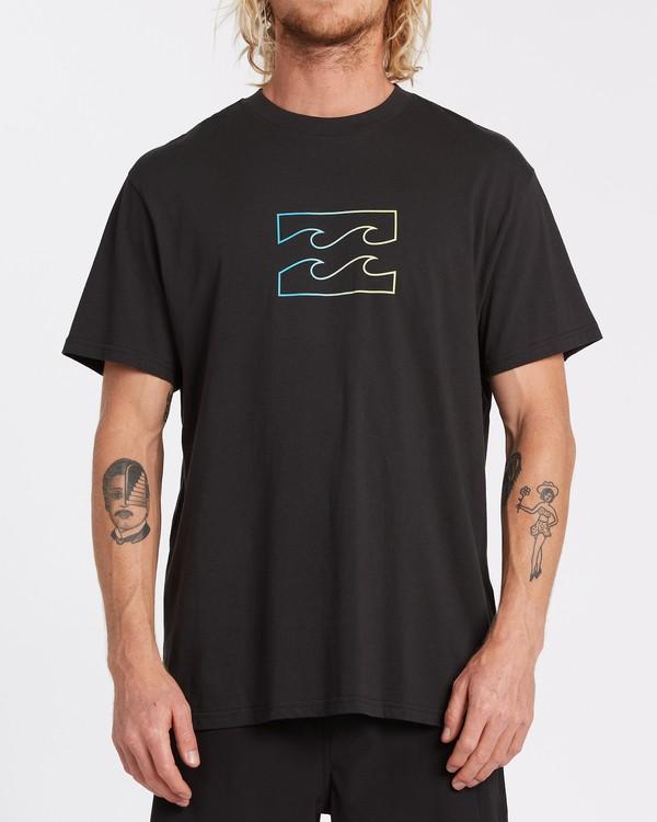 0 Team Wave Short Sleeve T-Shirt Black M4042BTW Billabong