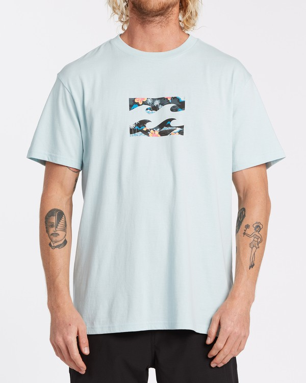 0 Team Wave Short Sleeve T-Shirt Blue M4042BTW Billabong