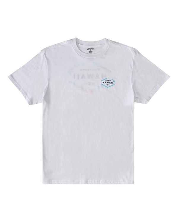 0 Geo Hawaii Short Sleeve T-Shirt White M4043BGE Billabong