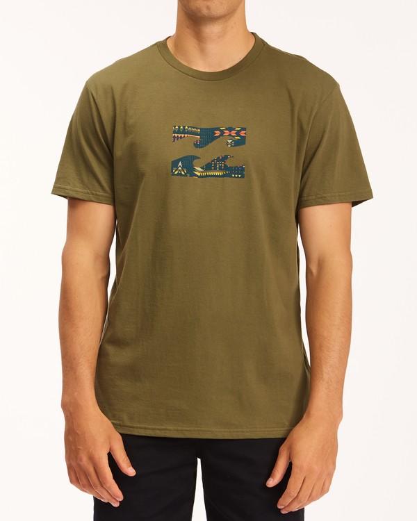 0 Team Wave T-Shirt Green M4043BTW Billabong