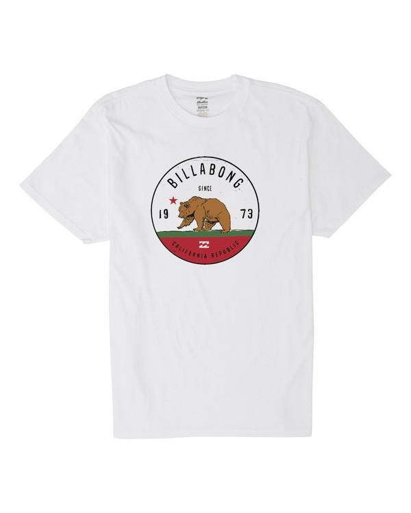 0 Grizzly California Short Sleeve T-Shirt White M404KGCA Billabong