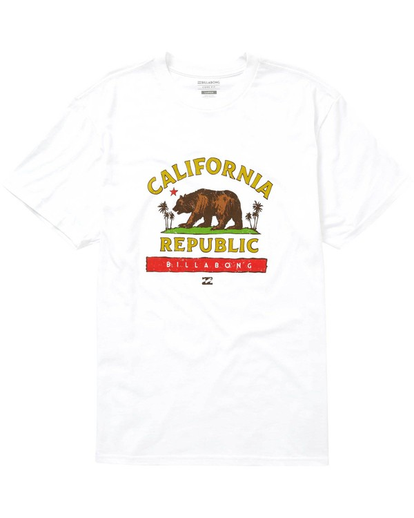 0 Cali Bear T-Shirt White M404NBCB Billabong
