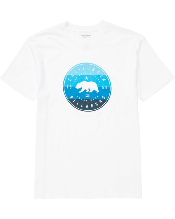0 Cali Bear Short Sleeve T-Shirt White M404QBCB Billabong