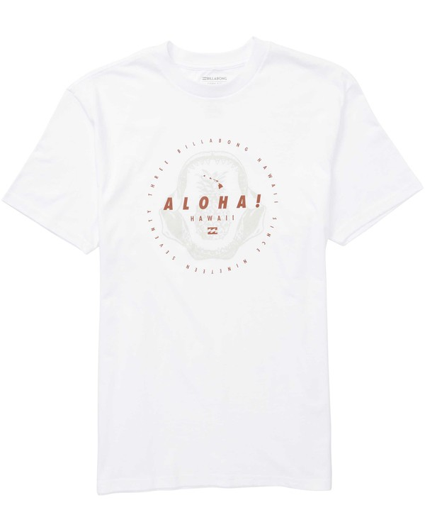 0 Jaws Short Sleeve T-Shirt White M404QBJA Billabong