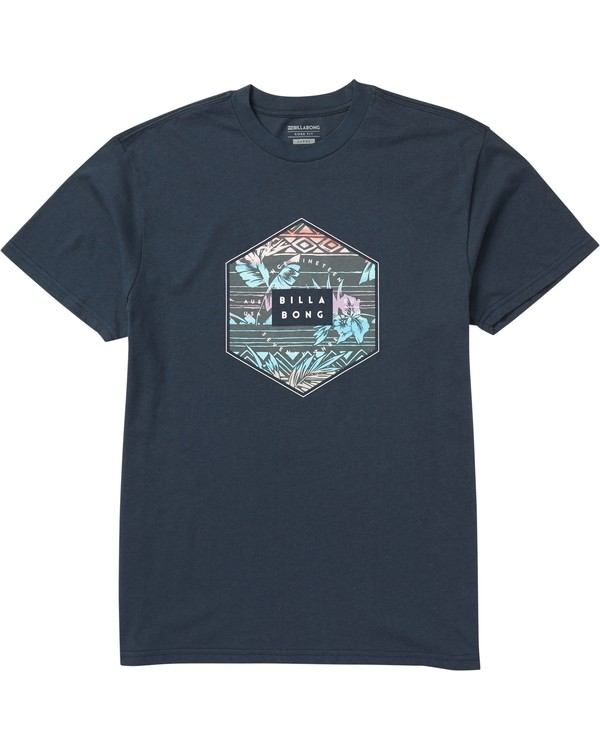 0 Access Fill Tee Shirt Blue M404SBAF Billabong
