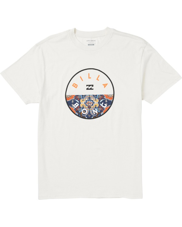 0 Rotor Fill Logo T-Shirt White M404SBRO Billabong