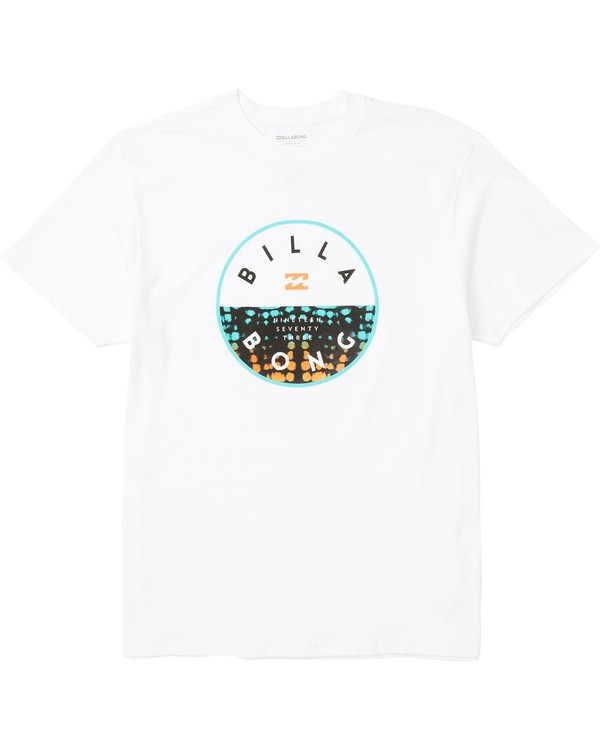 0 Rotor Fill Logo Tee Shirt White M404SBRO Billabong