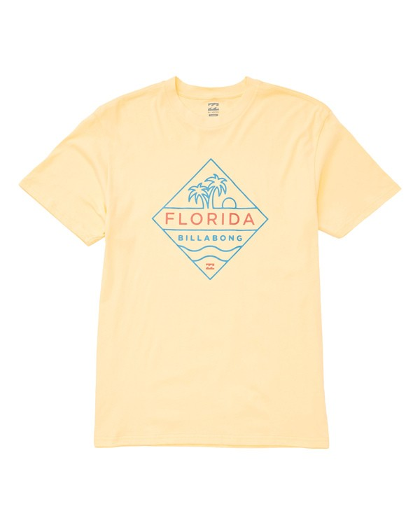 0 Diamond T-Shirt Yellow M404TBDI Billabong
