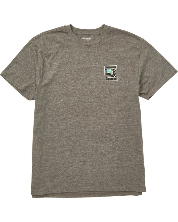 0 Pipe Poster T-Shirt Grey M404TBPI Billabong