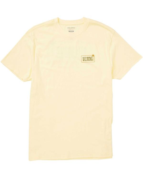 0 Seven Seas Tee Yellow M404TBSS Billabong