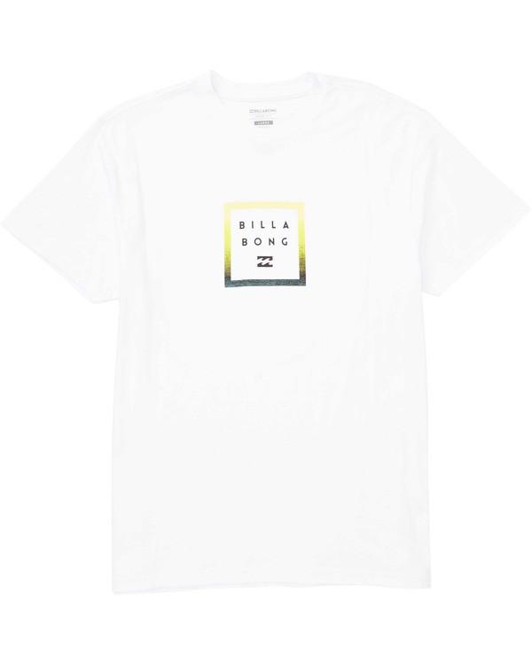 0 Stacked T-Shirt White M404TBST Billabong