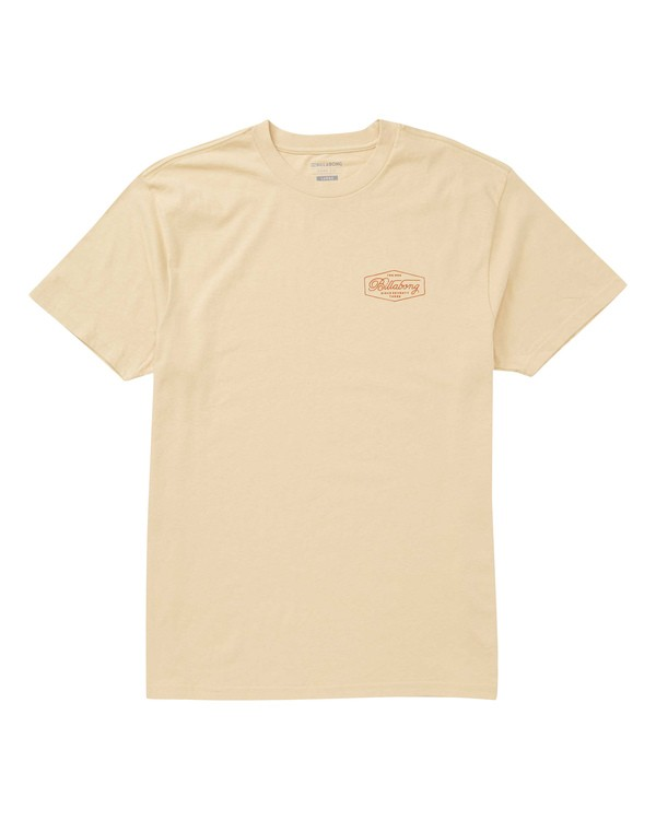 0 Trademark T-Shirt Beige M404TBTM Billabong
