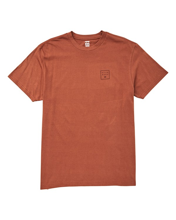 0 Stacked T-Shirt Red M404UBST Billabong