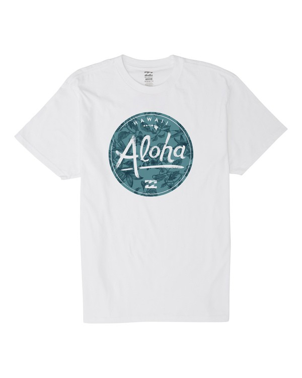 0 Aloha Badge Short Sleeve T-Shirt White M404VBAB Billabong