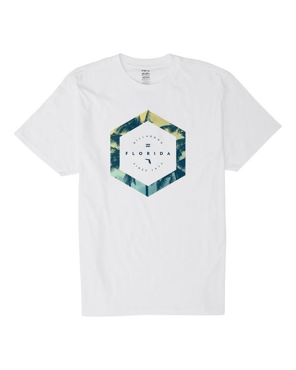 0 Access Florida Short Sleeve T-Shirt White M404VBCF Billabong