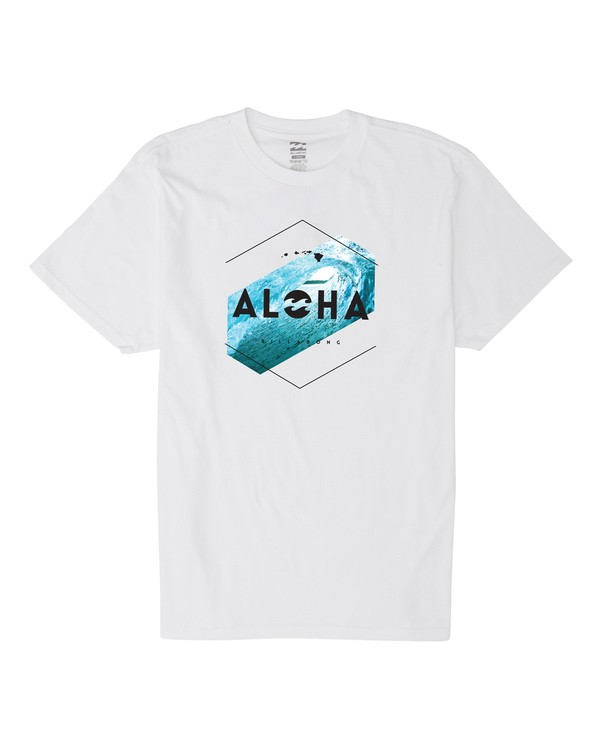 0 Aloha Hex Hawaii Short Sleeve T-Shirt White M404VBHE Billabong