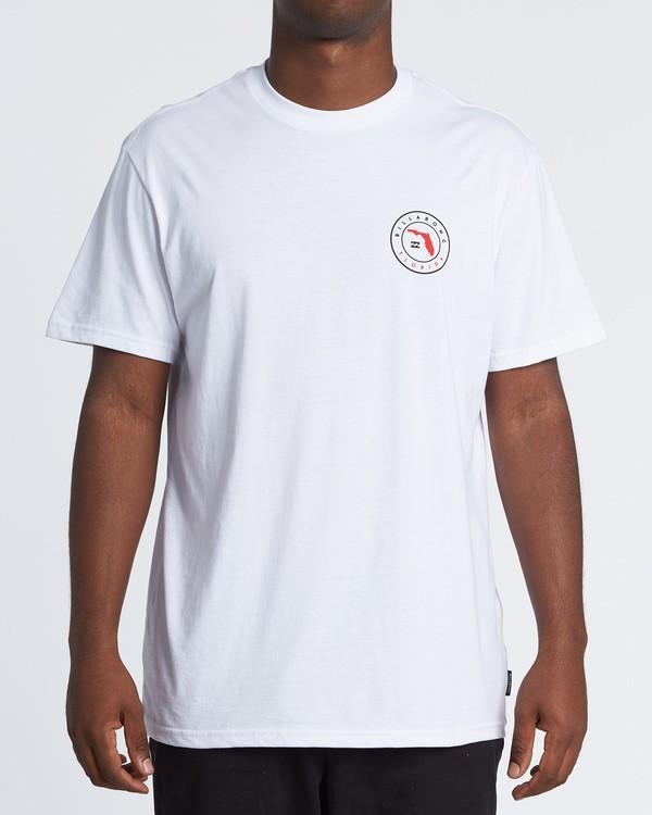 0 Native Florida T-Shirt White M404VBNF Billabong