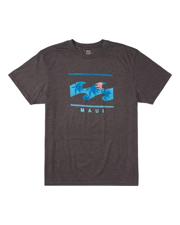 0 Shutter Palm Short Sleeve T-Shirt Black M404VBSP Billabong