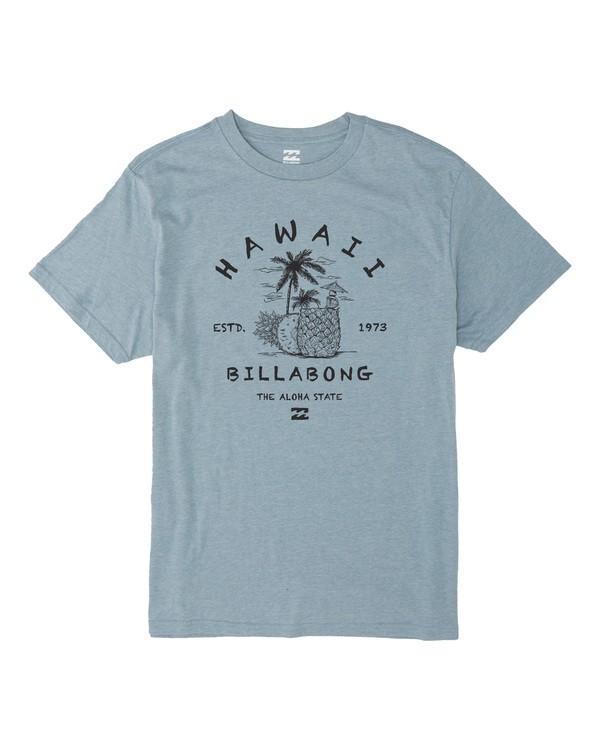 0 Hawaii Welcome Short Sleeve T-Shirt Blue M404VBWE Billabong