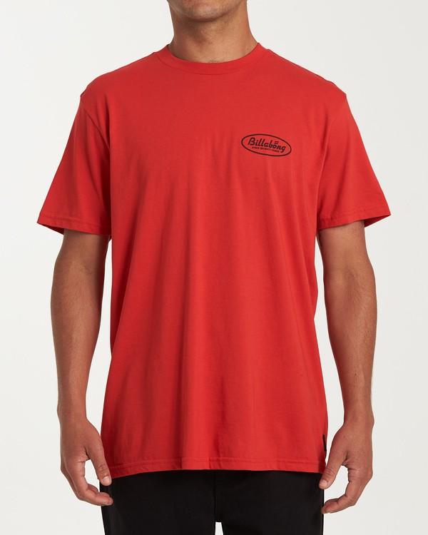 0 Falcon Short Sleeve T-Shirt Red M404WBFA Billabong