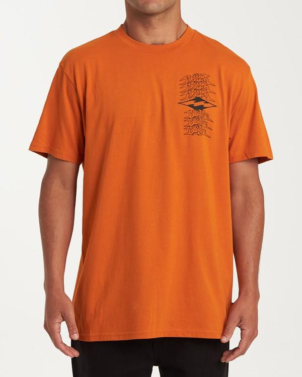 0 Filthy Short Sleeve T-Shirt Red M404WBFI Billabong