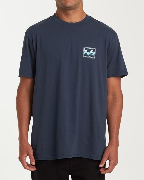 0 Fifty Wave Short Sleeve T-Shirt Blue M404WBFW Billabong