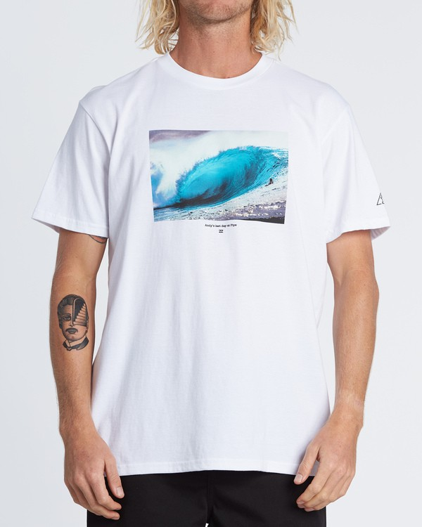 0 Last Day Short Sleeve T-Shirt White M404WBLD Billabong