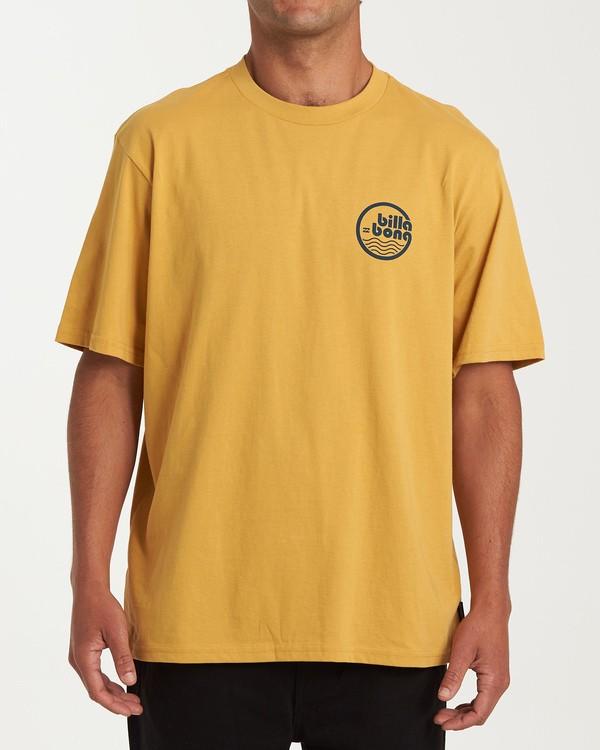 0 Lagoon Short Sleeve T-Shirt Yellow M404WBLG Billabong