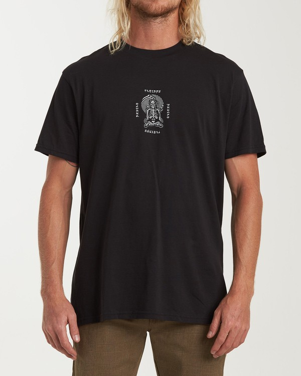 0 Psycho Therapy Short Sleeve T-Shirt Black M404WBPS Billabong