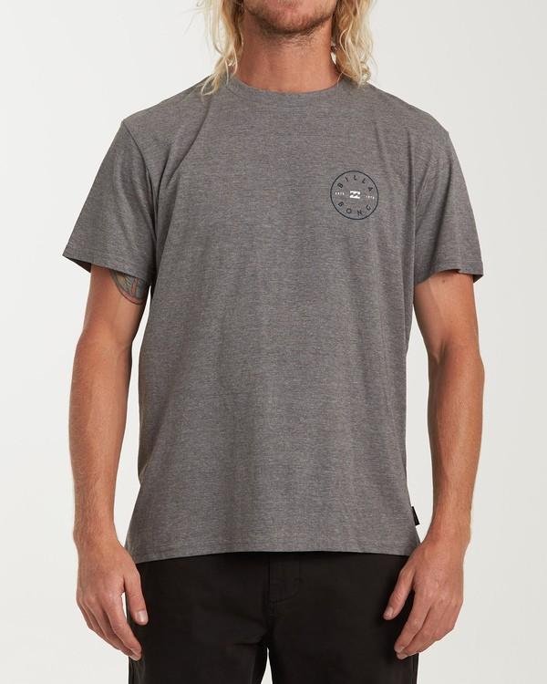 0 Rotor Short Sleeve T-Shirt Grey M404WBRO Billabong
