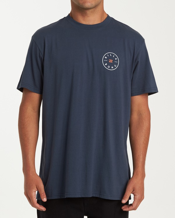 0 Rotor Short Sleeve T-Shirt Blue M404WBRO Billabong