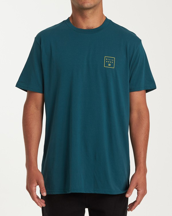 0 Stacked Short Sleeve T-Shirt Green M404WBSD Billabong