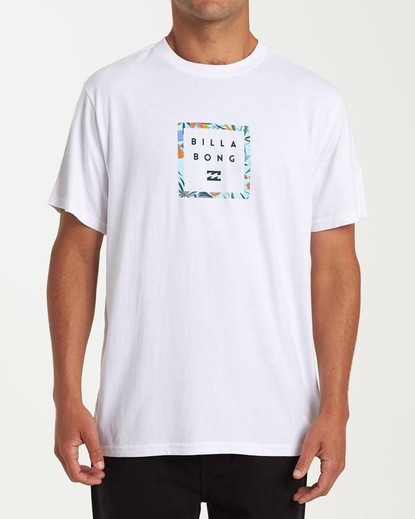 0 Stacker Short Sleeve T-Shirt White M404WBSR Billabong