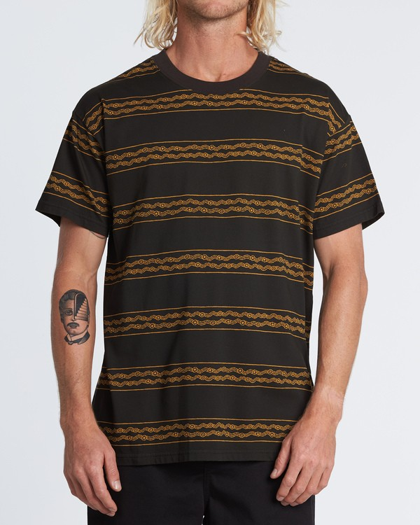 0 Tucker Stripe T-Shirt Black M404WBVR Billabong