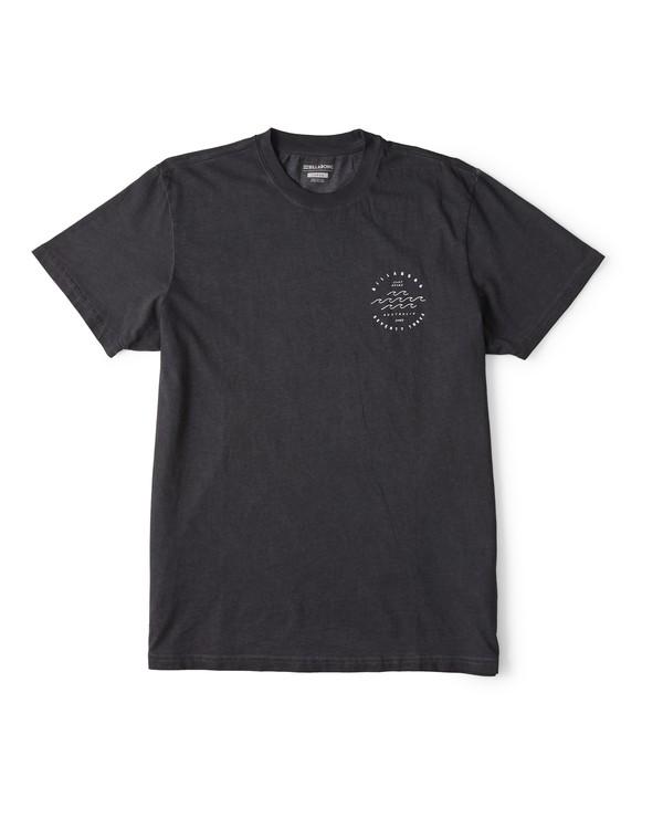0 Wavy Davy Short Sleeve T-Shirt Black M404WBZE Billabong
