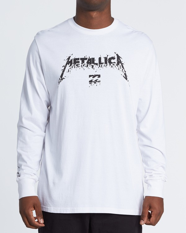0 AI Metallica Long Sleeve T-Shirt White M4051BAM Billabong
