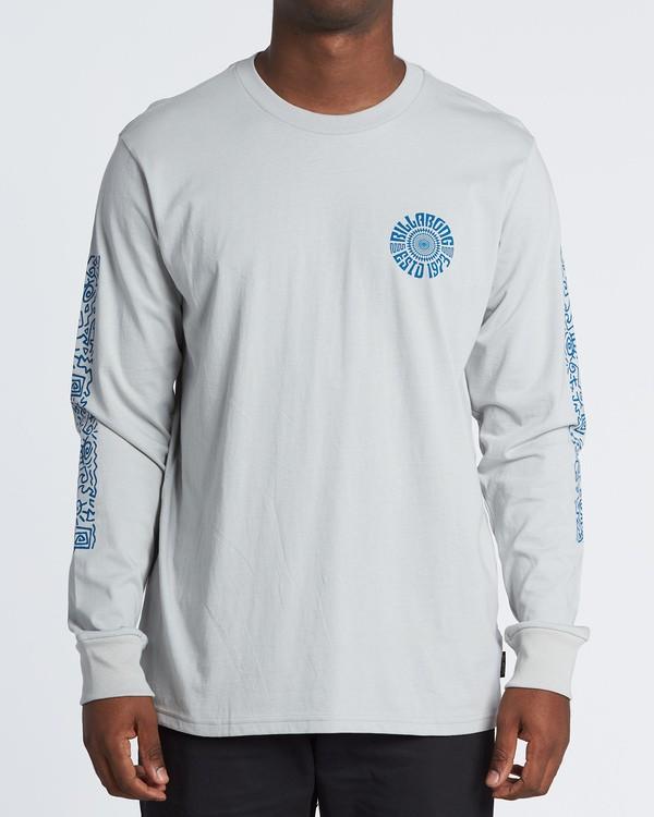 0 Hiero  Long Sleeve T-Shirt Grey M4051BHE Billabong