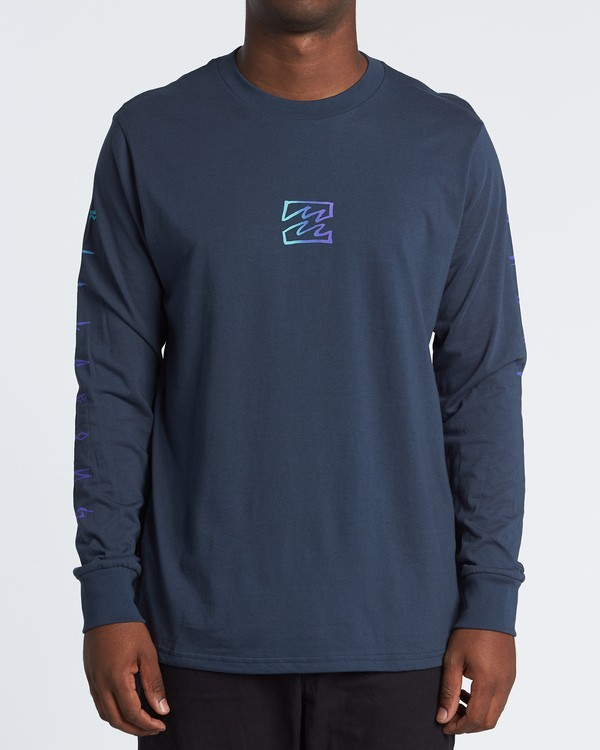 0 Oscura Long Sleeve T-Shirt Blue M4051BOS Billabong