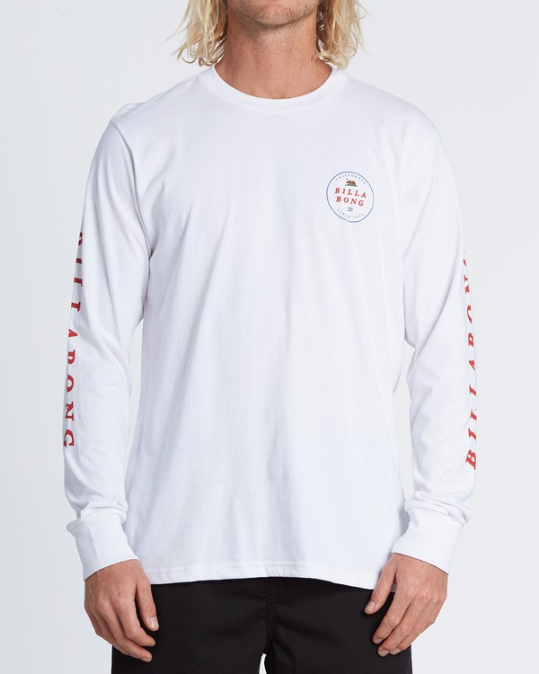 0 Rotor California Long Sleeve T-Shirt White M4051BRC Billabong