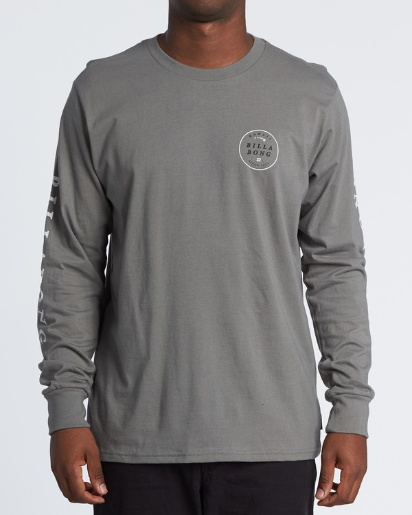 0 Rotor Hawaii Long Sleeve T-Shirt Grey M4051BRH Billabong