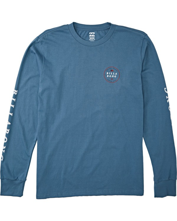 0 Rotor USA Long Sleeve T-Shirt Blue M4051BRU Billabong