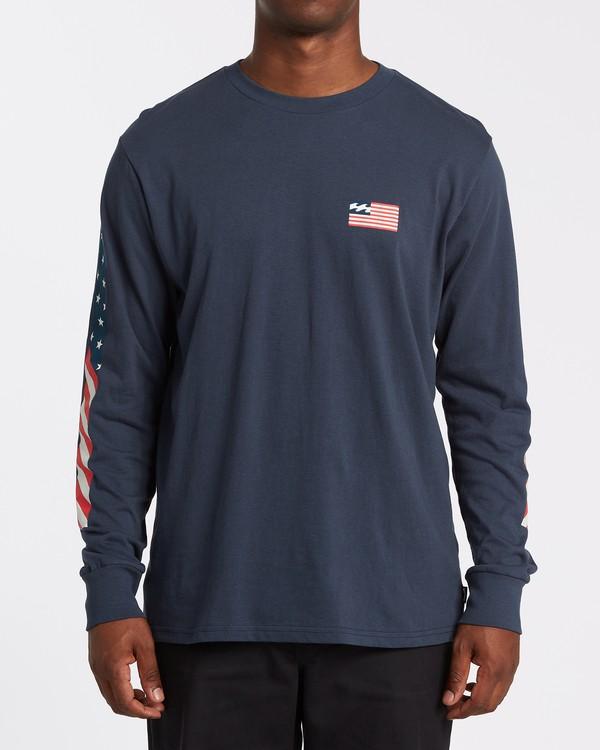 0 Americana Long Sleeve T-Shirt Blue M4052BAM Billabong