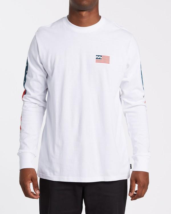 0 Americana Long Sleeve T-Shirt White M4052BAM Billabong