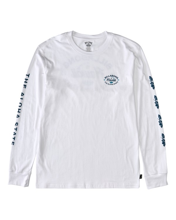 0 Aloha Long Sleeve T-Shirt White M4053BAO Billabong