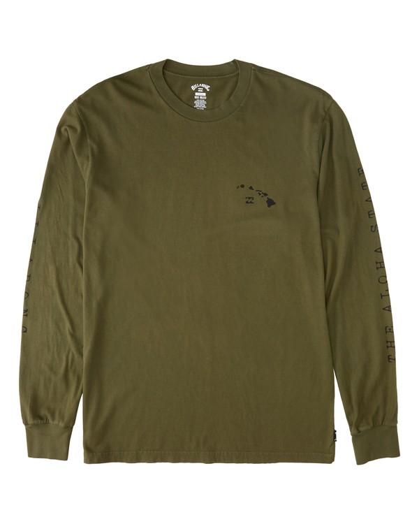0 Islands Long Sleeve T-Shirt Green M4053BIS Billabong